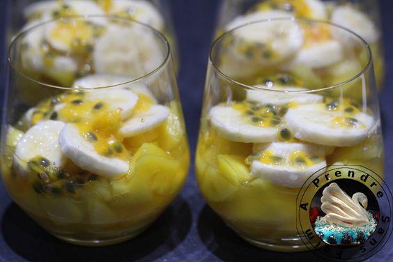 Salade mangue banane passion http://www.aprendresansfaim.com/2016/10/salade-mangue-banane-passion.html