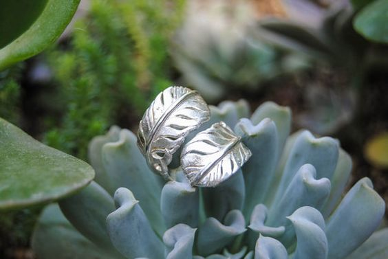 SILVER FEATHER RING by CristalVioleta on Etsy, $85.00