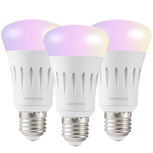 Dailycomb E27 Wi Fi Smart Light Bulb A19 Led Dimmable Multicolor