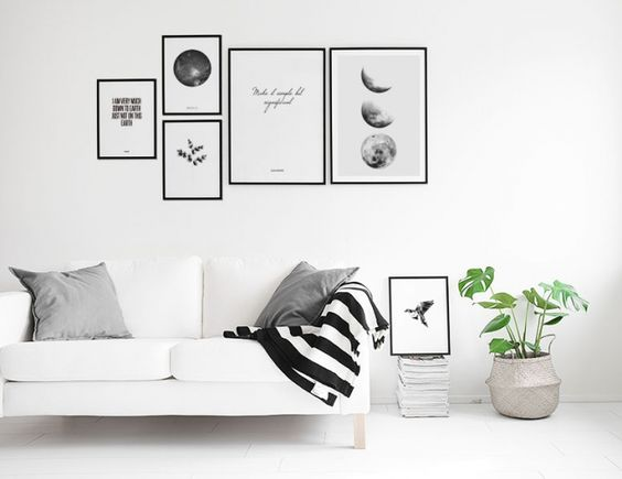 Moon phase, poster