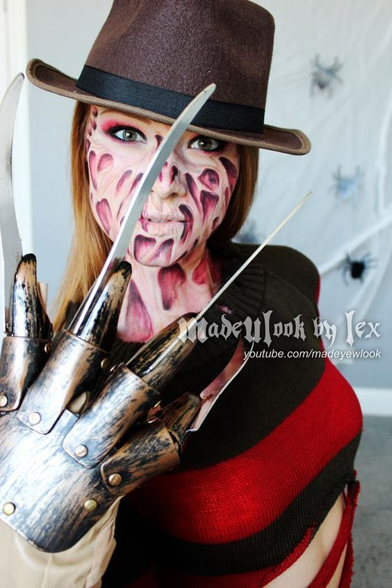Halloween Makeup Store we carry only the best makeup to help make your work stand out when doing sugar skull makeups we recommend mehron paradise used by professional artists Madeulook Freddy Krueger Tutorial No Latex No Mess All Drug Store Makeup
