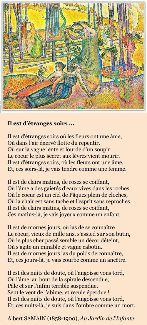 Albert Samain Poeme Arabe Albert Samain Poeme Francais