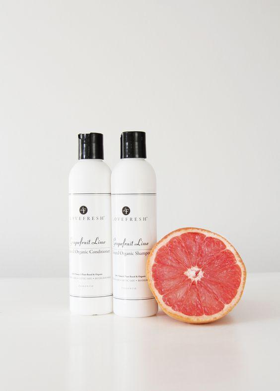 Grapefruit Lime, Natural Organic Shampoo