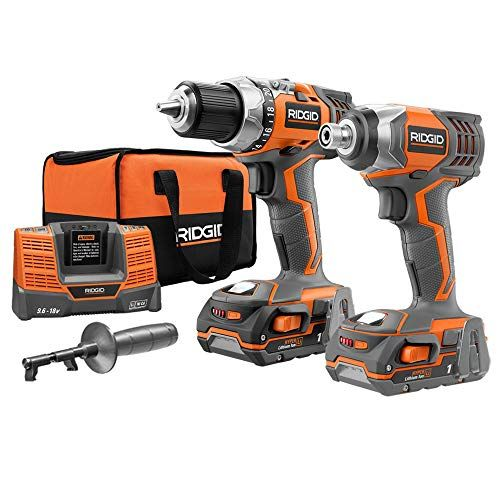 Ridgid Zrr9600 X4 Hyper 18v Cordless Lithium Ion 1 2 In Drill Driver And Impact Driver Combo Kit Impact Driver Combo Kit Hammer Drill