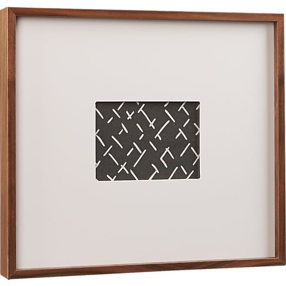 walnut 5x7 box picture frame cb2