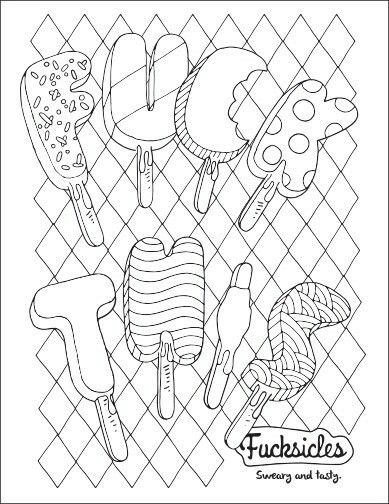 F This John T Swear Words Adult Coloring Book Free Page Download