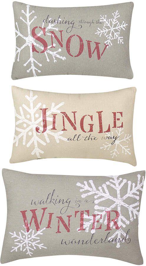 Country Christmas Throw Pillow - Set of Three #Christmas ...