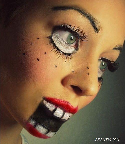 disfraz de muñeca maquillaje