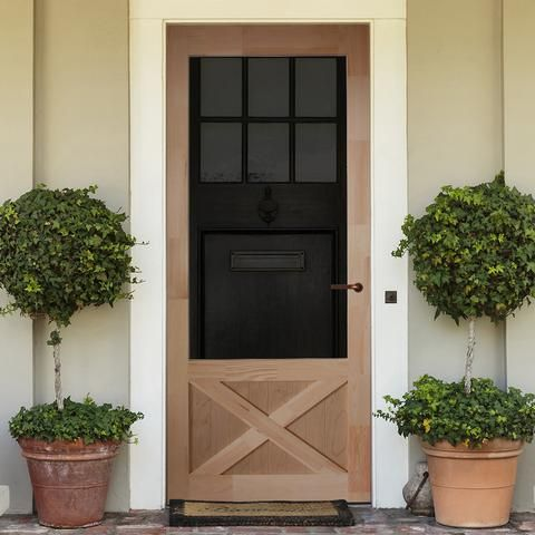 Screen Door 1 3 8 In Thick X 84 In High Wood Thompson In 2019 Beautiful Front Doors Exterior Doors Wood Screen Door