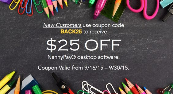 "Extending our ""Back to School' savings. New customers use coupon code BACK25 to save $25 OFF until 9/30/15."