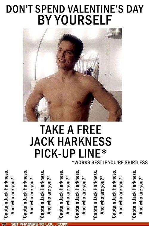 sci fi fantasy - Free Jack Harkness Pick-Up Line