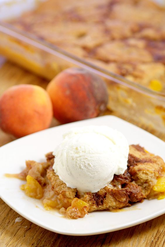 brown peach cobblers spices peaches simple cinnamon cream desserts ...