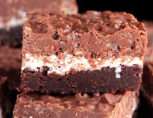 La Recette De Brownies Croustillants Au Chocolat Et Beurre D Arachides Si Bon Peanut Butter Crunch Peanut Butter Desserts