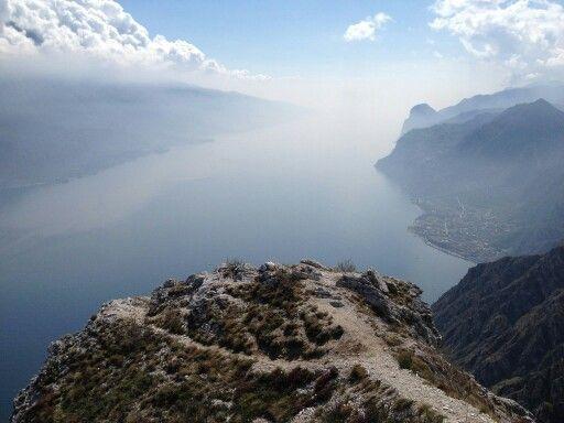 Lago di Gar da, Italien. Alpen, Dolomiten