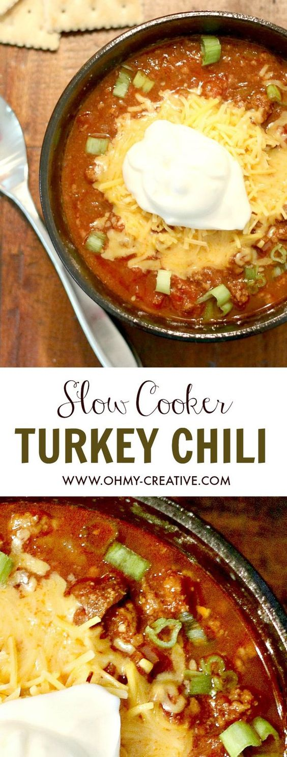 Slow cooker turkey, Turkey chili and Chili recipes on Pinterest