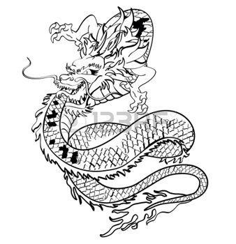 tatouage dragon: japanese tshirt de tatouage de dragon en format vectoriel Illustration