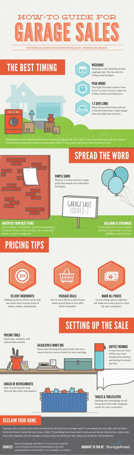 How-To Guide for Garage Sales - Have a garage sale at your apartment community. Not only will residents like it but it's advertising for you. We would have garage sales at several properties and they were usually very successful. But you really have to get the word out. Aside from Craigslist use social media. [Infographic, Multifamily, Property Management, Social Media Marketing] #NerdMentor