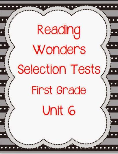 Printables Grade 4 Reading Selection unit 6 reading wonders selection tests for first grade my classroom creations pinterest spring and bre