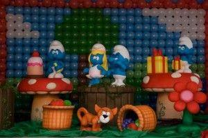 Dicas de decoração de Festa infantil dos Smurfs