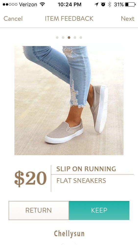 Slip On Running Flat Sneakers | Flat