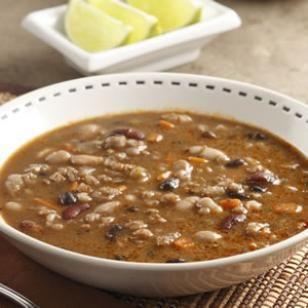 southwestern three-been & barley soup