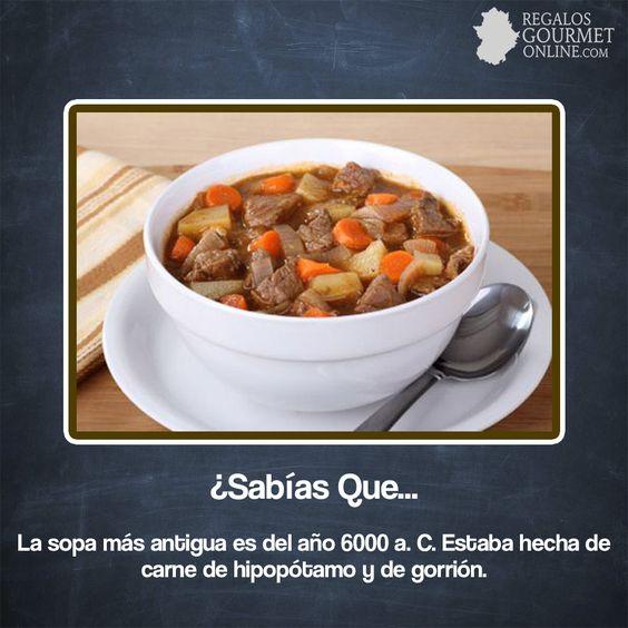 ¿#SabíasQueLa sopa más antigua es del año 6000 a. C. ?#Curiosidades#Gastronomía