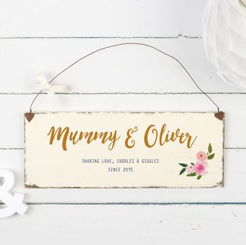 Personalised Floral Mother's Day Sign
