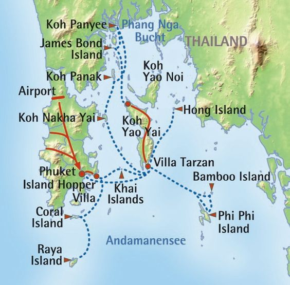 Map Of Thailand Krabi Island