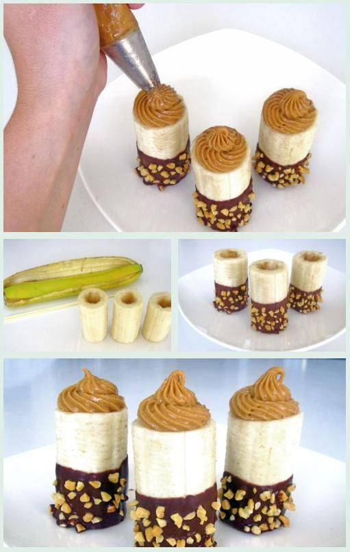 PB filled chocolate covered bananas!