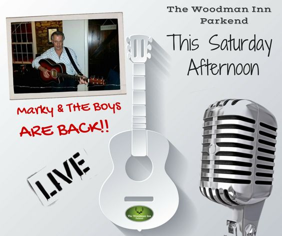 Marky and the boys are playing this Saturday afternoon from 3.30pm. Come and enjoy a bit of chill time at the Woody... #forestofdean #thewoodmaninn #music