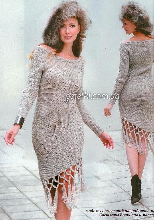 Узоры вязания крючком крупные схемы платья