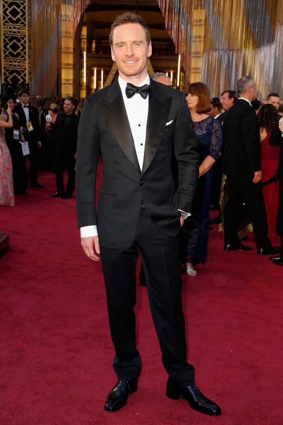 Michael Fassbender wearing  Tom Ford Windsor Base Peak-Lapel Tuxedo