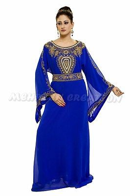Dubai Farasha Moroccan Kaftan Dress Jilbab Arabian clothing Hot ISLAMIC 1039
