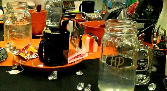 Harley Davidson themed table decoration  Harley Davidson table decor ...