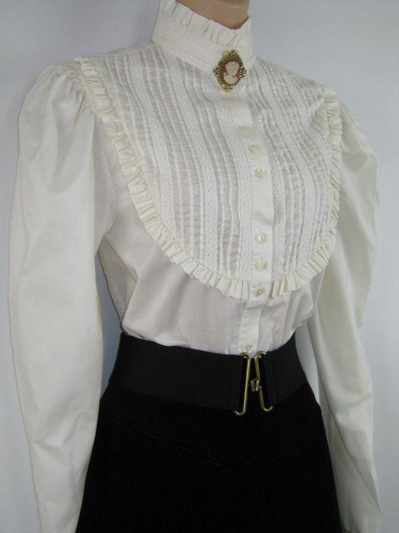 Vintage Lace Blouses Uk 34