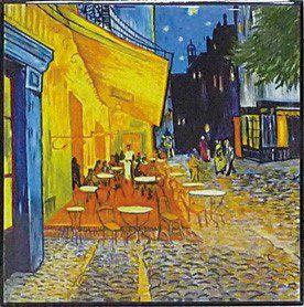 ハイグロス mini コレクションアート ゴッホ「夜のカフェテラス」/ 絵画 壁掛け のあゆわら