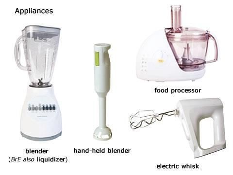 Appliances meaning in english