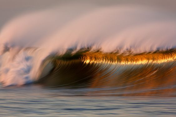 """Glowing Barrel"" by David Orias...the Ocean is so beautiful"