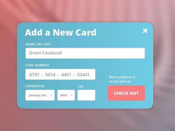 Credit Card Checkout  Web  Checkout