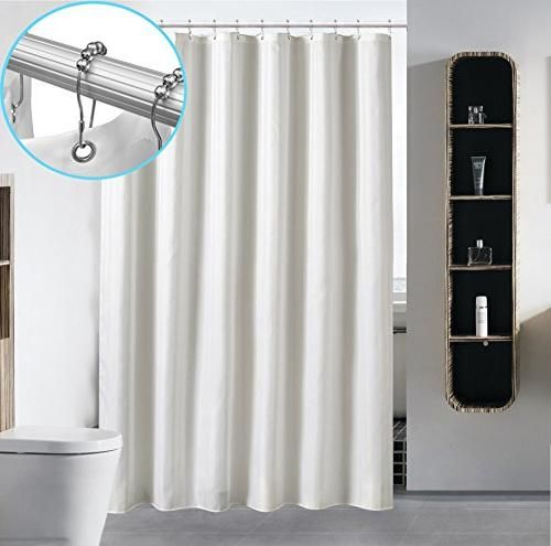 Waterproof Fabric Shower Curtain Liner By Hotel Quality Mildew