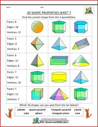 Printables Faces Edges And Vertices Worksheet printable 3d shape worksheets properties 7 faces edges and vertices