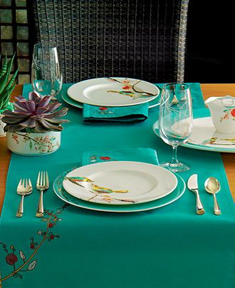 Lenox chirp table linens collection registry wedding for Table 6 lenox