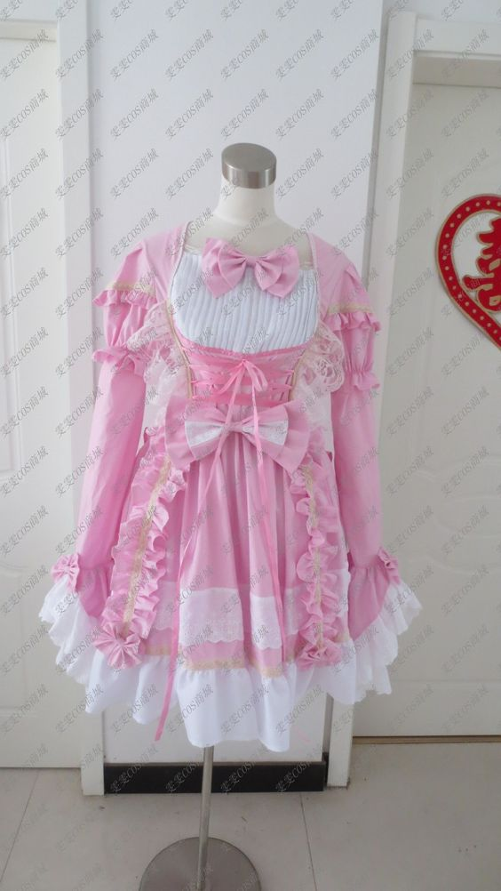 Cosplay Angel love black and white princess dress cute maid service maid costumes, gorgeous version