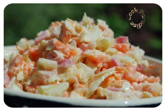 J'ai découverts cette salade de crudités sur un groupe THERMOMIX, impossible de vous en dire + Dans tous les cas, elle est EXTRA, sans parler de la sauce au yaourt, à adapter avec bien d'autres crudités . À vous de tester.VOTRE MARCHÉ 1/2 choux blanc...