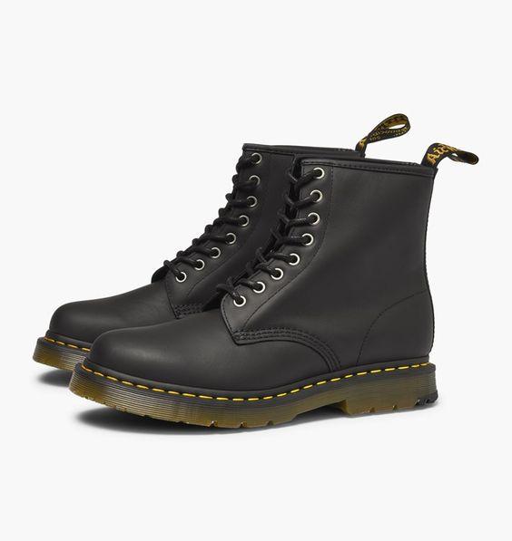 Black DR MARTENS Biker boots KENDRA