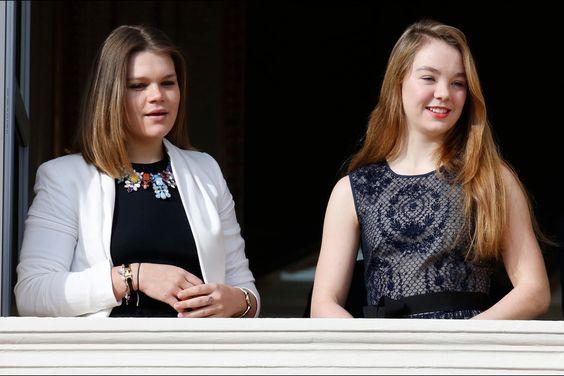 Pauline Gottlieb et Alexandra de Hanovre à Monaco, le 7 janvier 2015