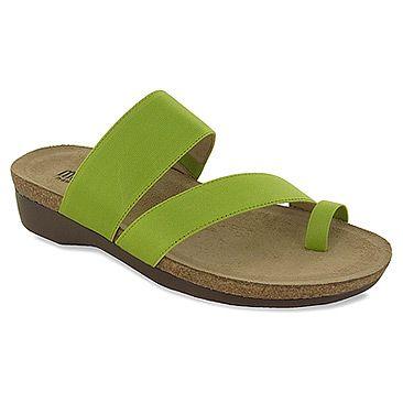 Slide Sandals with contoured cork, $129.95