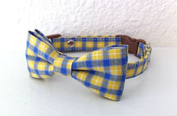 Preppy Bow Tie Collar for  Cats and Dogs by cheridogdesign on Etsy