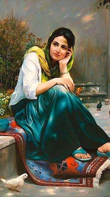 beautiful ladies paintings - Pesquisa - 50.6KB