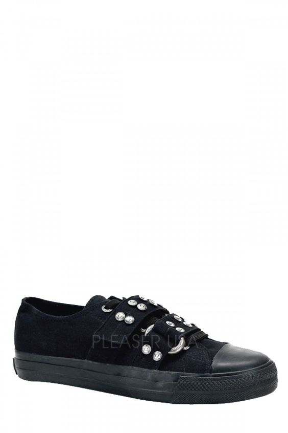 $85.95 LL Deviant - Blk Canvas, Low Top Sneaker